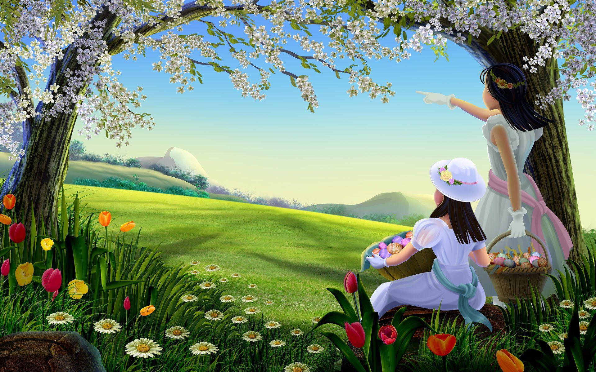 1920x1200 Beautiful Nature Cartoon Hd Desktop Wallpaper Hd Nature Wallpapers Beautiful Nature Wallpaper Spring Desktop Wallpaper