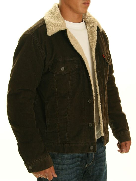Levi's Sherpa Lined Brown Corduroy Jacket | levis | Pinterest ...
