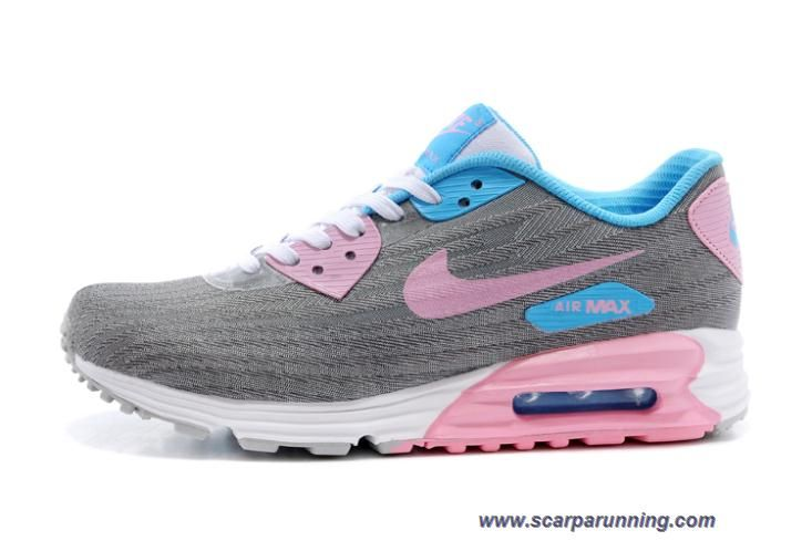 best website 11c1e 234e5 comprare scarpe online 654468-011 Nike Air Max Lunar 90 JCRD Grigio Rosa  negozio calzature