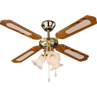Buy Argos Home Decorative 3 Light Ceiling Fan Brass Ceiling