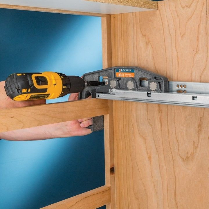 Captivating Rockler Undermount Drawer Slide Jig   Lets You Quickly And Accurately  Install Blum Tandem Undermount Drawer Slides In Your Custom Cabinets.