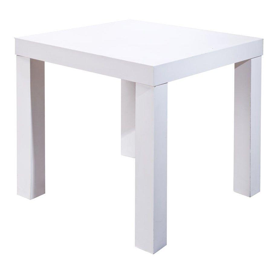 Mesa cuadrada madera procesada laminada color blanca 1 0 for Mesa cuadrada blanca