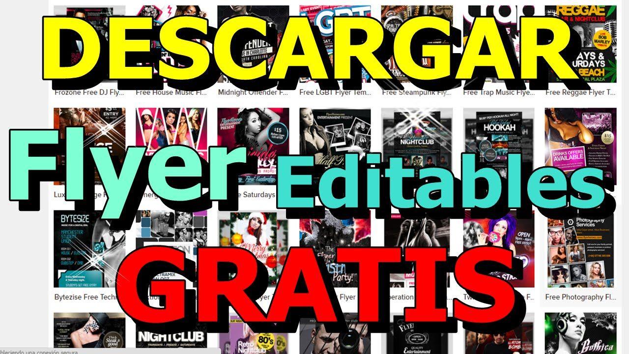 free flyer templates gratis descargar psd cs6 editables cosas para