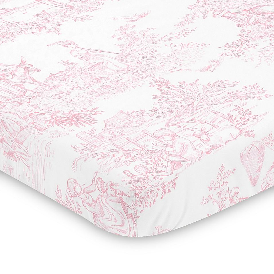 Sweet Jojo Designs Pink French Toile Mini Crib Sheet Buybuy Baby Sheets