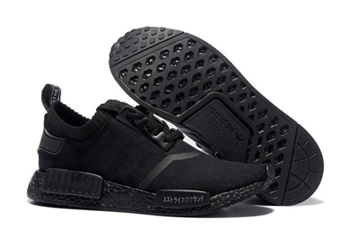 0b7e5c337ec41 Adidas NMD Black Black White Japanese - Women s Shoes