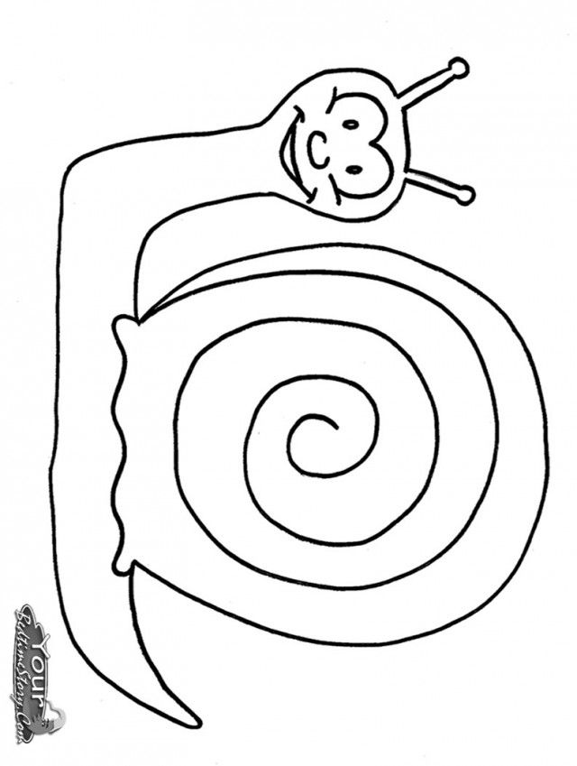 Snail Coloring Pages Color Plate