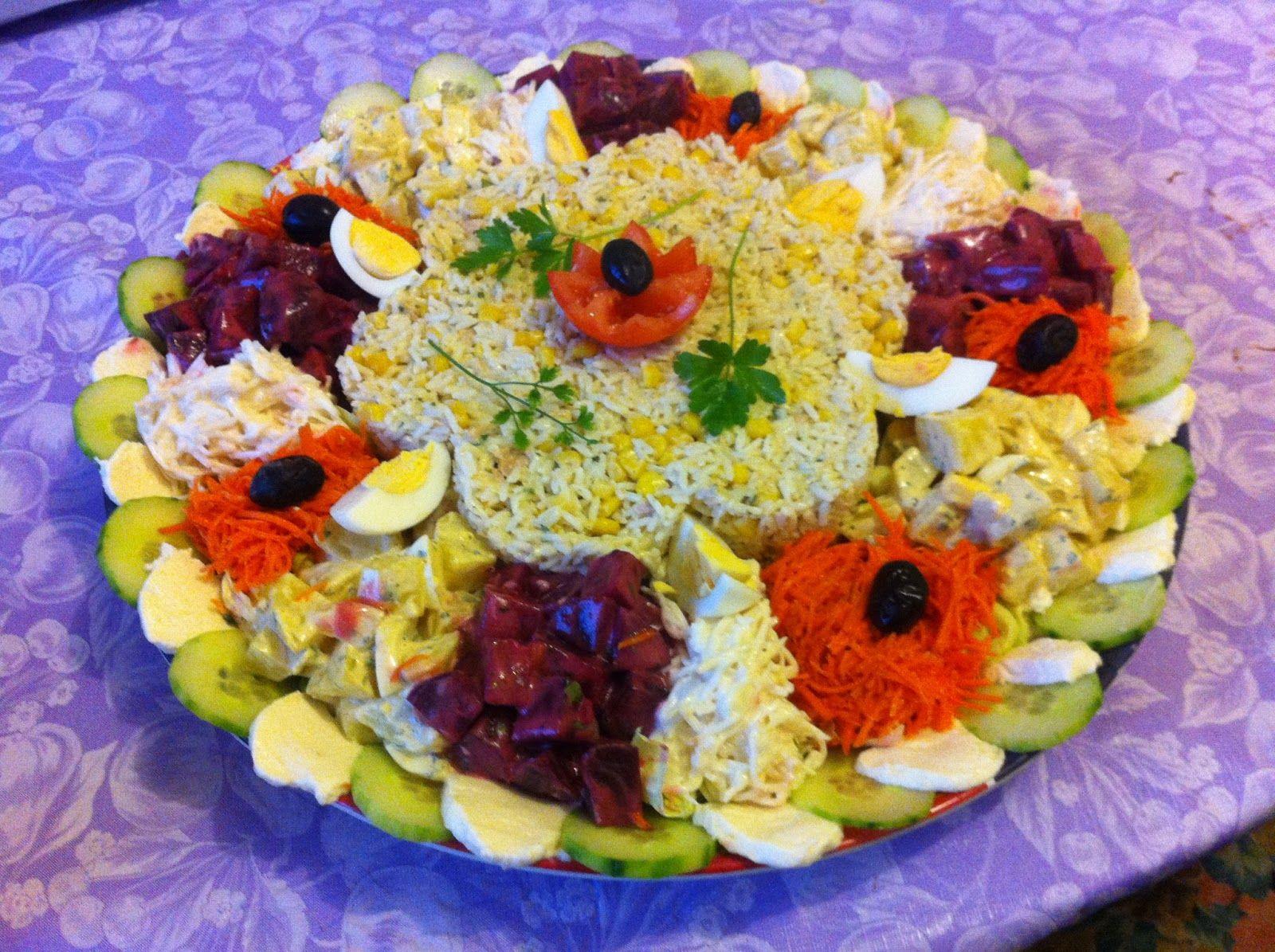 Salade compos e pour grande tabl e entr e salade for Idees entrees legeres