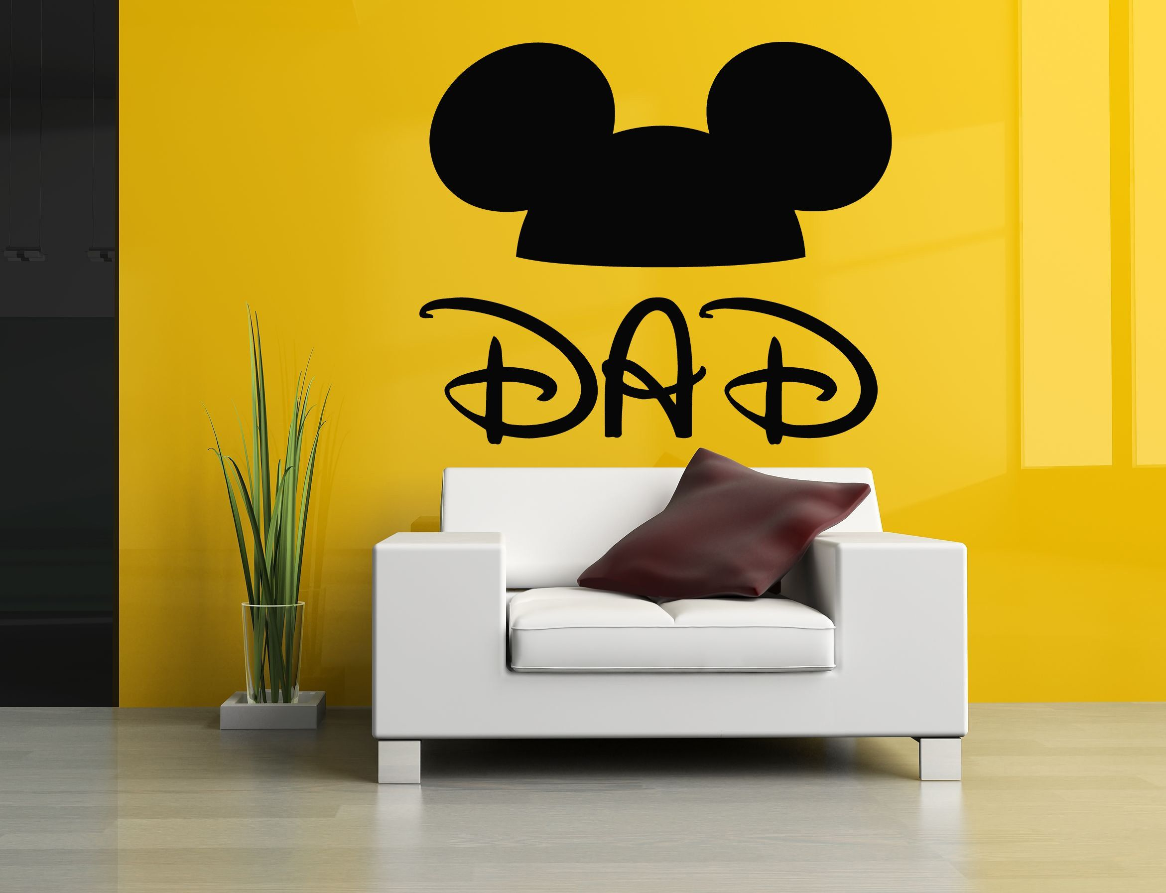 Wall Room Decor Art Vinyl Sticker Mural Decal Dad Mouse Ears Kids ...