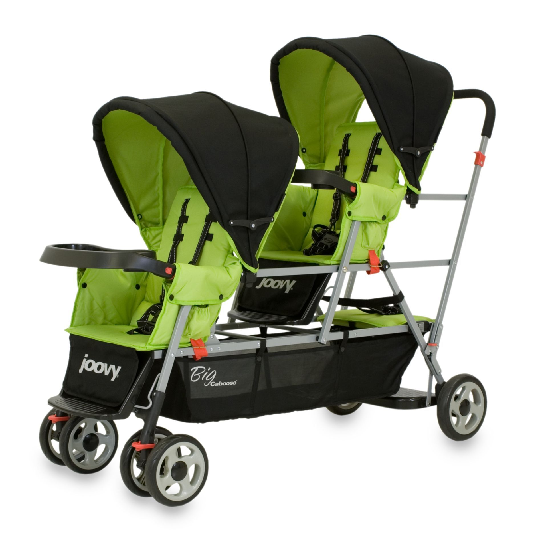 Strollers Gt Joovy 174 Big Caboose Stand On Triple Stroller In