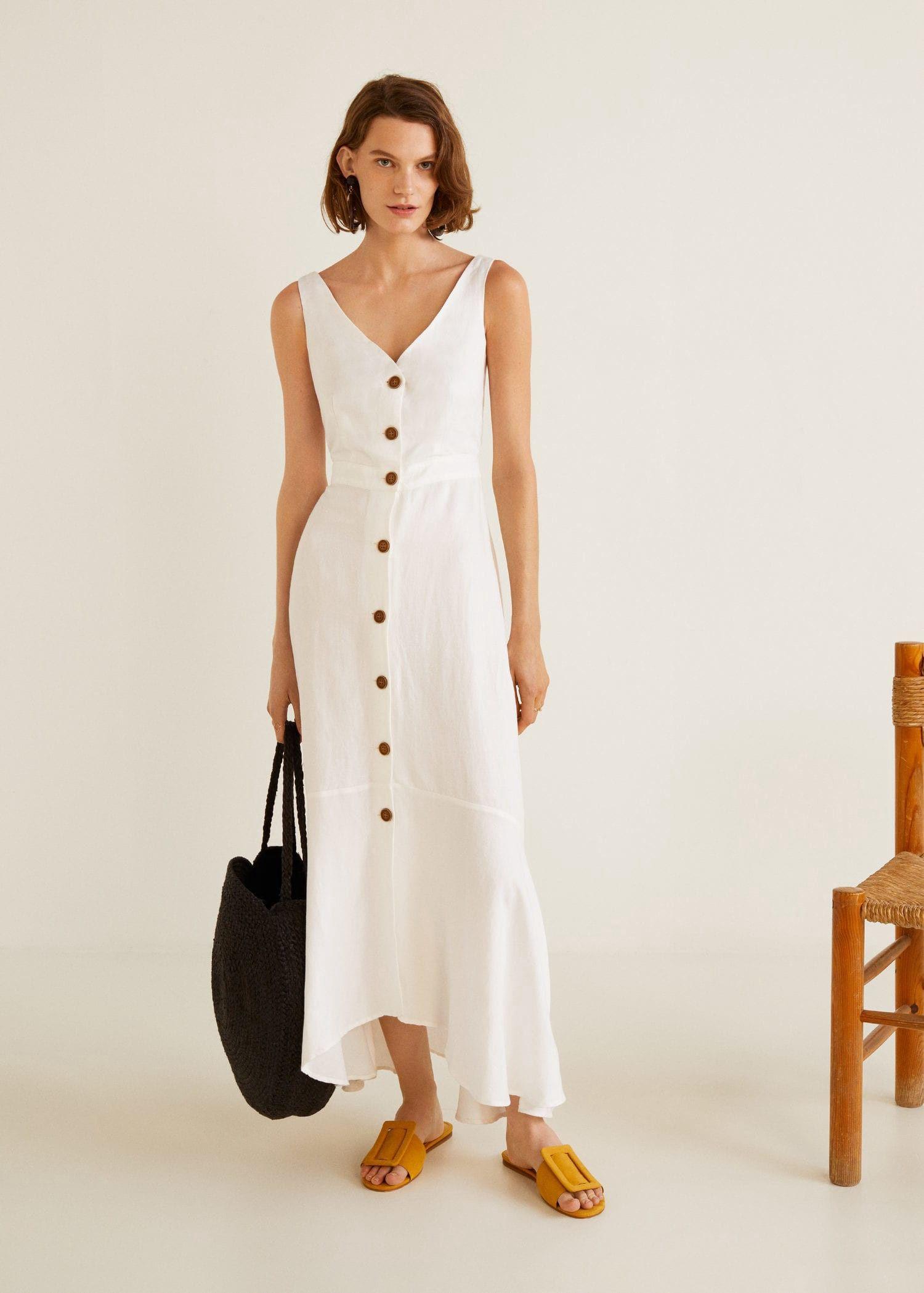 9b5f7b78d1 Mango Ruffled Linen Dress - 4