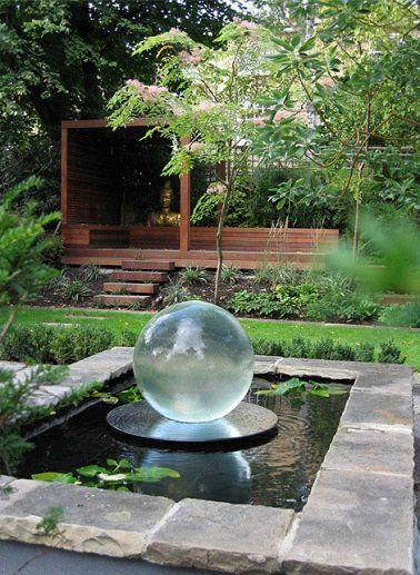 Une fontaine po tique pour le jardin zen zen transparent et douceur - Fontaine exterieur zen ...