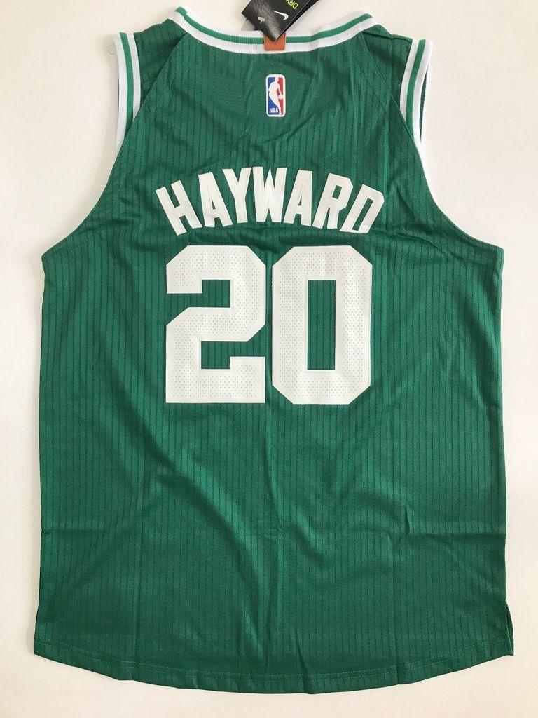 super popular 682e4 feaa1 Men Gordon Hayward Jersey Green Boston Celtics Authentic ...