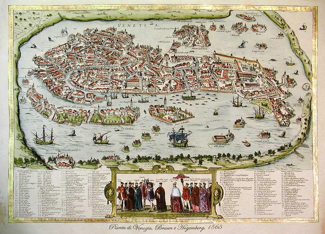 vintage venice | Venise carte, Venise, Cartographie