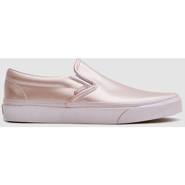 Rose gold sneakers, Vans classic slip