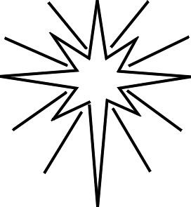Christmas Star Coloring Page Christmas Star Christmas Manger Nativity Star