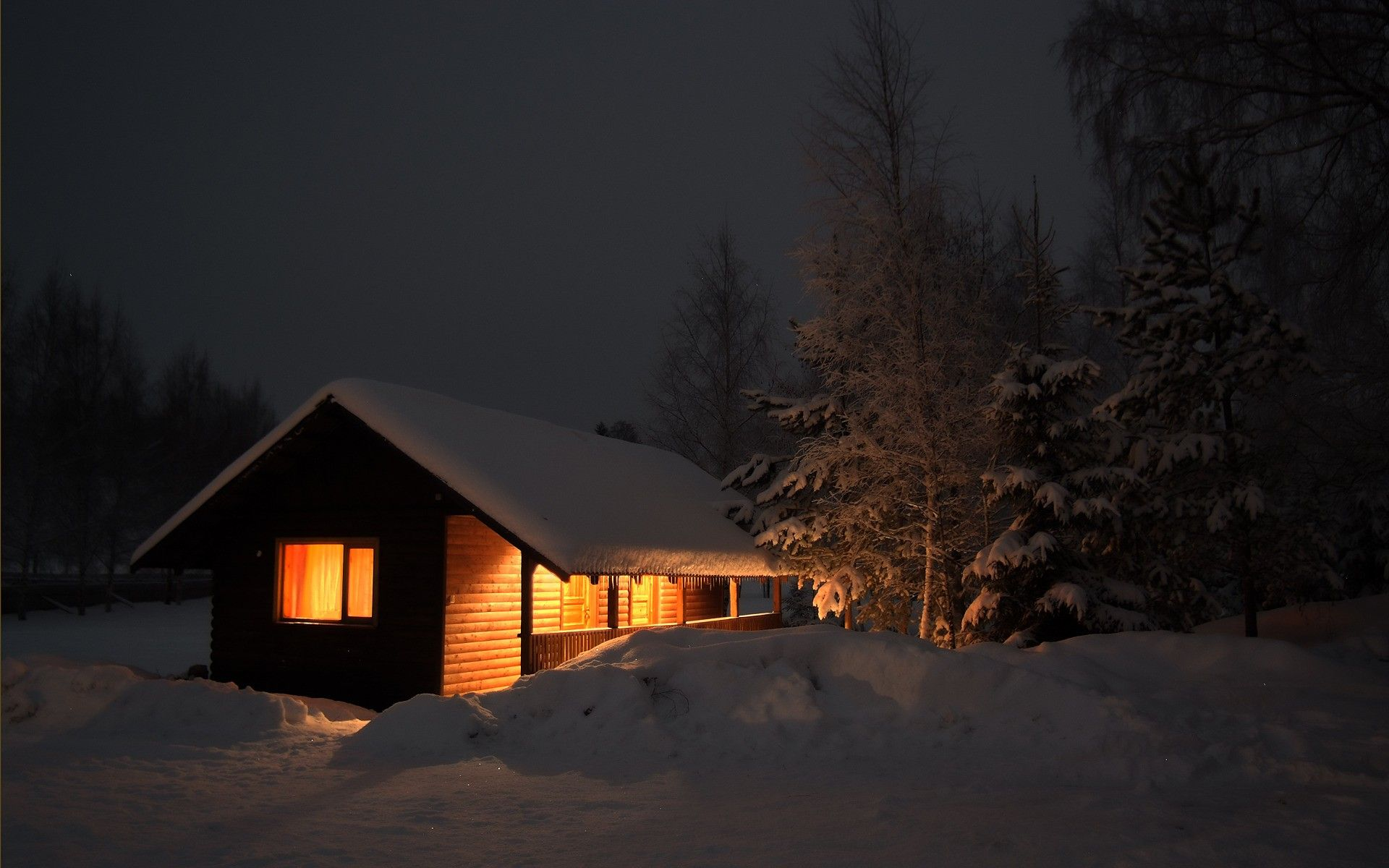 Log cabin in the woods winter - Romantic Cabins In The Woods