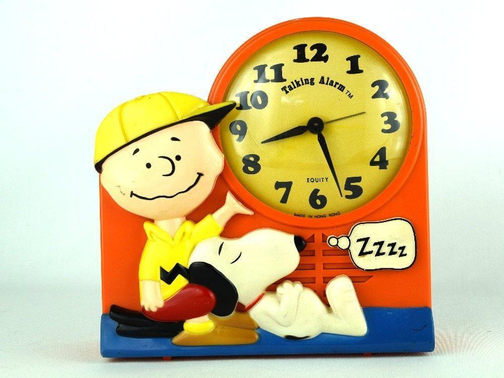 70s Charlie Brown Alarm Clock With Barking Snoopy Vintage Peanuts Gang Retro Clock Novelty Clocks Clock