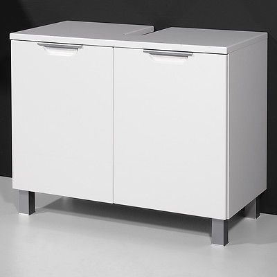 Badezimmer Schrank Waschbecken Unterschrank Weis Hochglanz Glanz Lack Neu  In Mobel Wohnen Mobel
