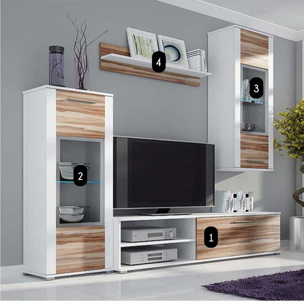 meubles de salon design alejandro atylia composition de meubles tv muraux proyectojl. Black Bedroom Furniture Sets. Home Design Ideas