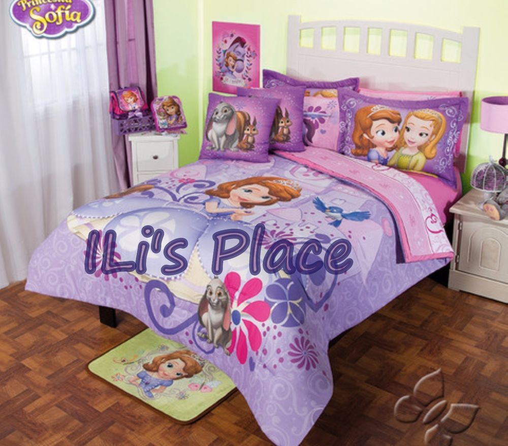 Sofia The First Bedroom Twin And Full Girls Disney Princess Sofia The First Comforter Set