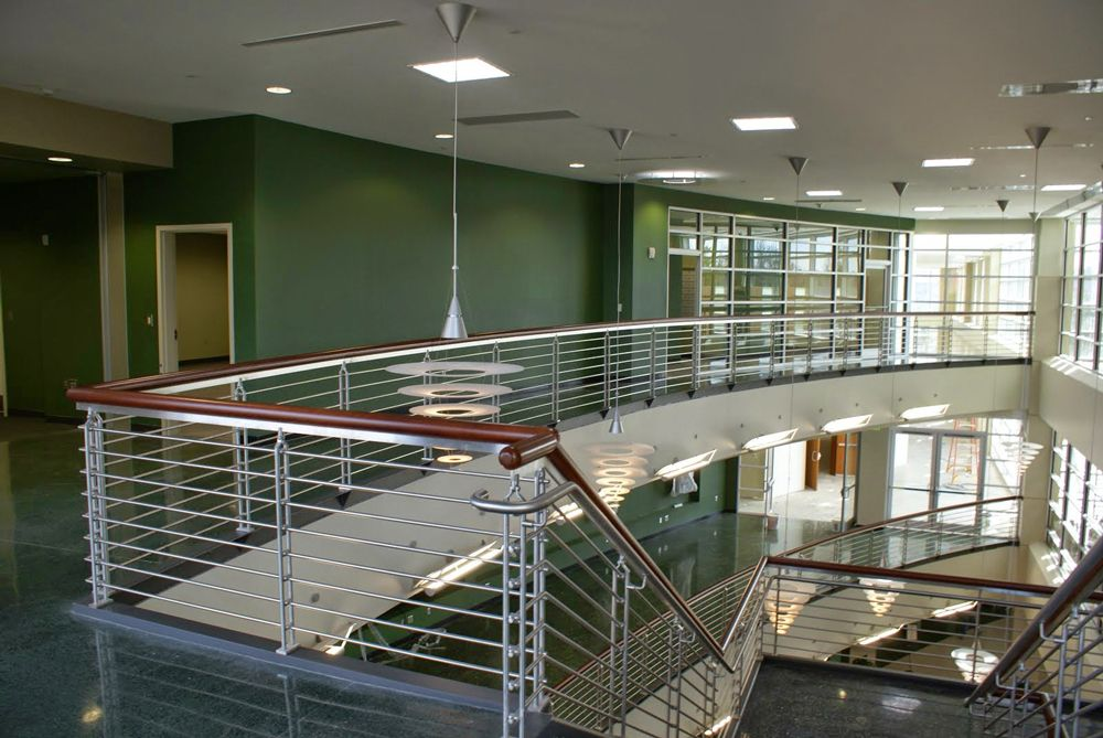Our stainless rails bring a modern touch to private and