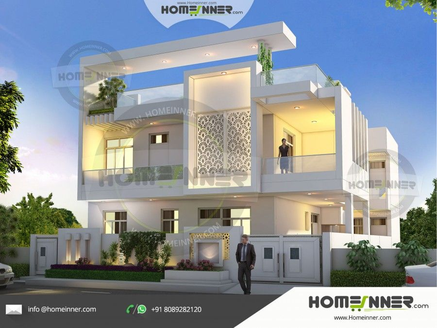 5100 Sq Ft 6 Bedroom Ultra Modern Luxury Villa Exterior Mansions Modern House House Plans With Photos