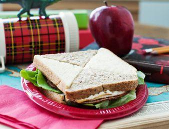 Cheesy checkerboard sandwich | Recipe from COBS Bread