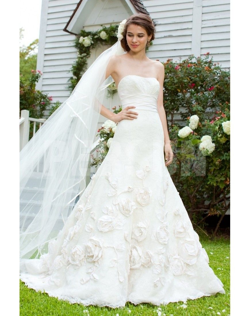 Draped Wedding Dress, Wedding