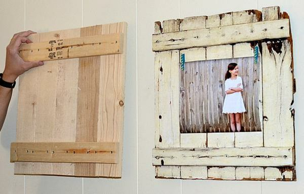 Bilderrahmen Holz Rustikal rahmen rustikal holz deko flur gestalten dekorieren home