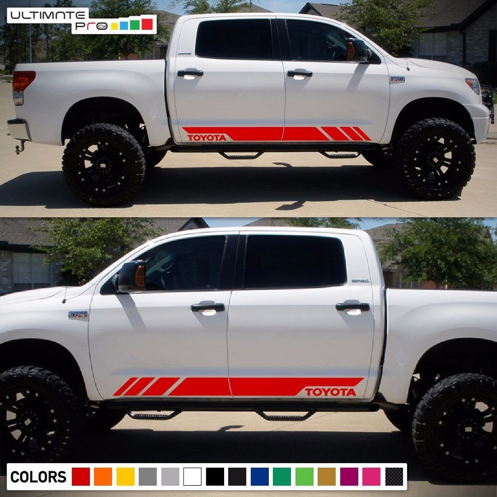 Decal vinyl sticker stripe body kit for toyota tundra racing fender flare sr set ultimateprocy1ulti10deca15