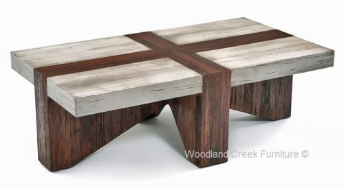 Rustic Chic Coffee Table By Woodland Creek Furniture Available In Custom Sizes Chic Coffee Table Rustic Furniture Diy Wood Coffee Table Rustic