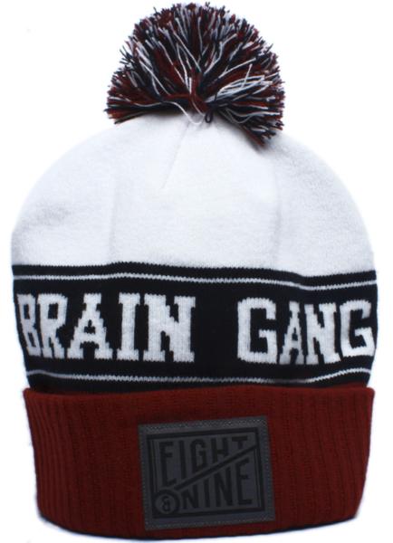 f934e8e5fa4 Brain Gang Maroon Pom Beanie