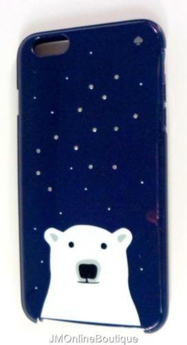 best website f5600 9d3ca Kate-Spade-WIRU0490-Polar-Bear-Navy-Gems-Resin-Cell-Phone-Case ...
