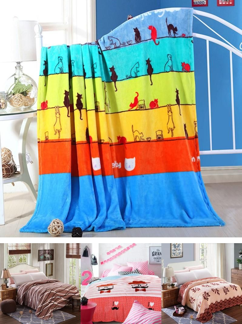 Visit to Buy  Cheap 200x230cm Hot sale big size cat brand Blankets for beds 2999b942c