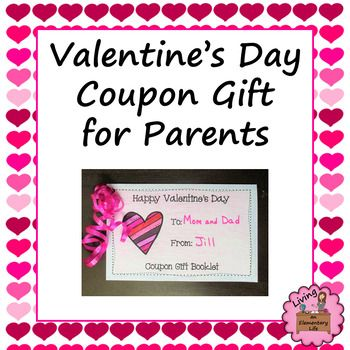 ValentineS Day Coupon Gift For Parents  Parents And Students