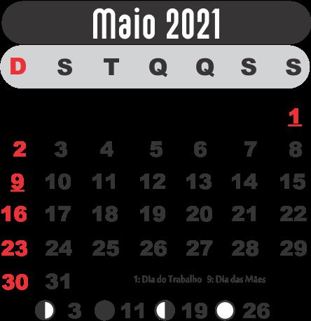 Calendário 2021 Maio | Imagem Legal em 2020 | Modelos de
