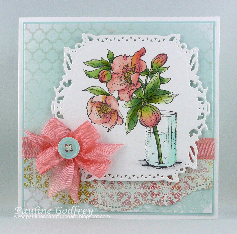 Pauline's Card Cupboard: Lenten rose