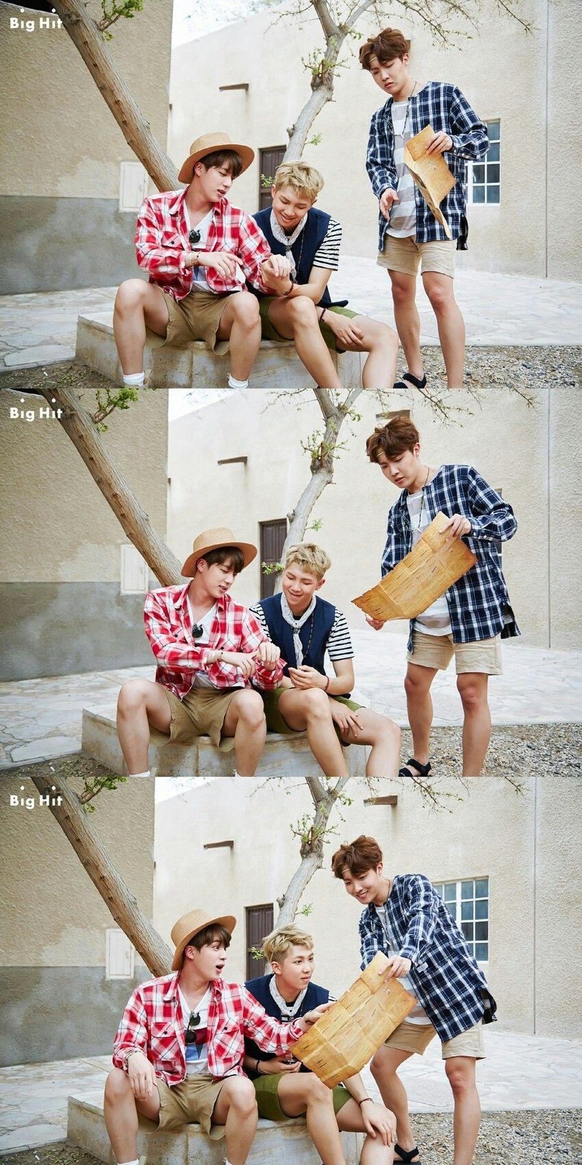 Bts ~ jin, jhope & rap monster