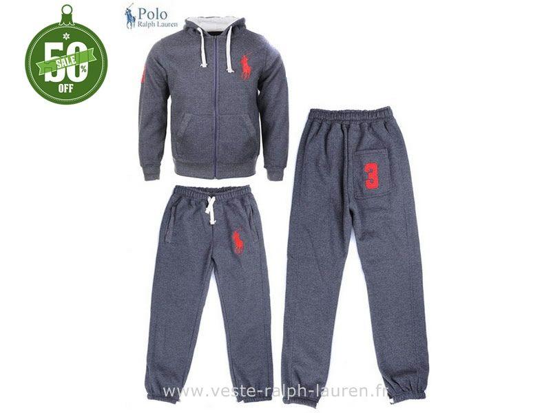 2374e2014c2 boutique Officielle Ralph Lauren Survêtement hommes femmes gris Survetement  Ralph Lauren Homme Pas Cher