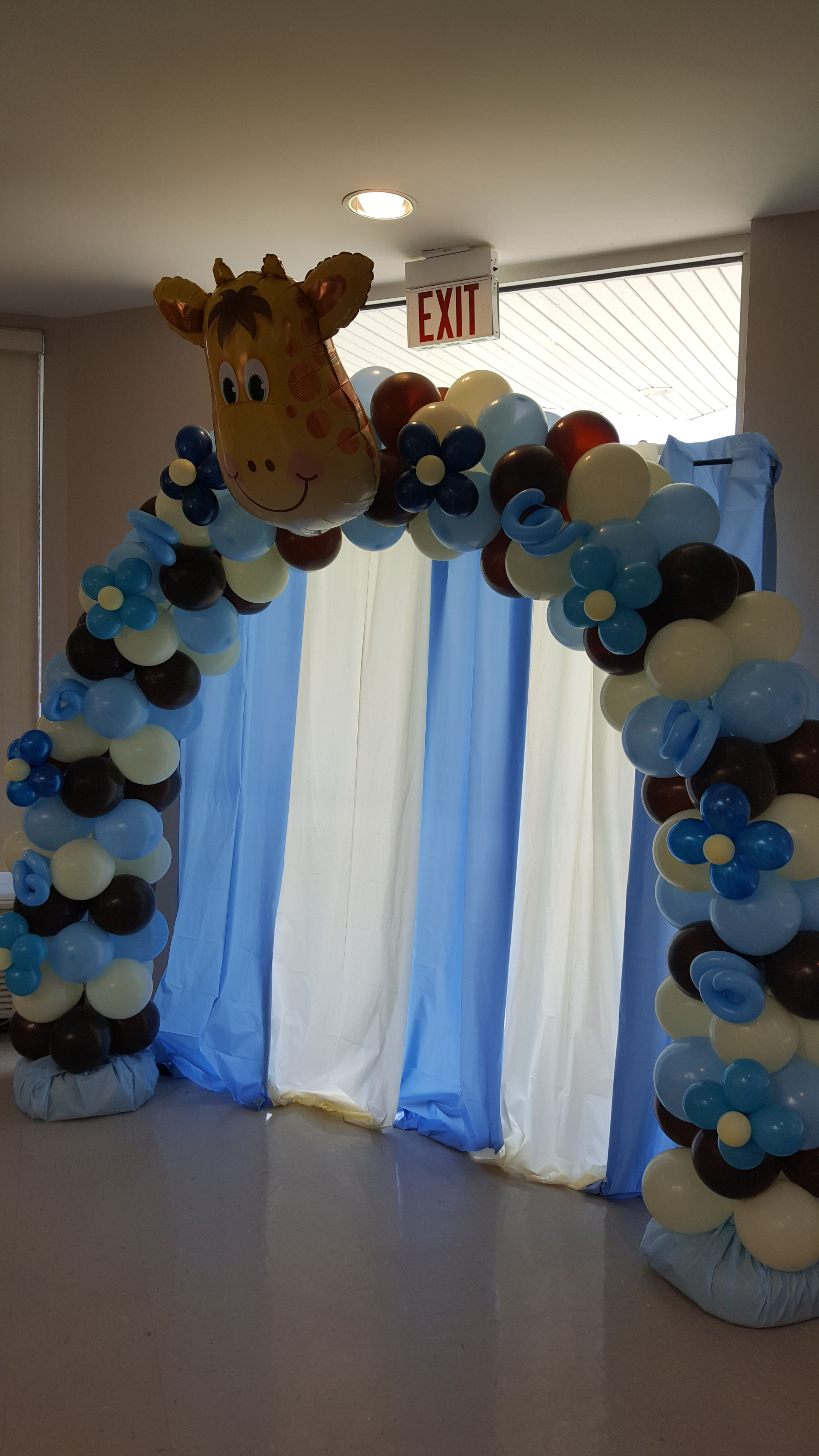 Cream And Chocolate Brown Balloon Arch