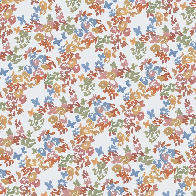Floral Simple Ditsy Print Pattern Gouache On Paper Vintage Prints Pola Bunga