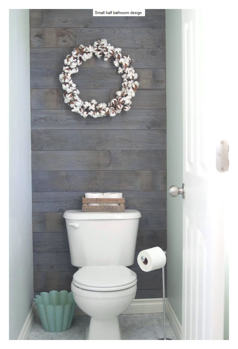 Bathroom Half Bathroom Decorating Ideas With A Wreath On The Bathroom Wall  As A Decoration Ideas Rustic Look Bathroom Decorating Ideas Photos.