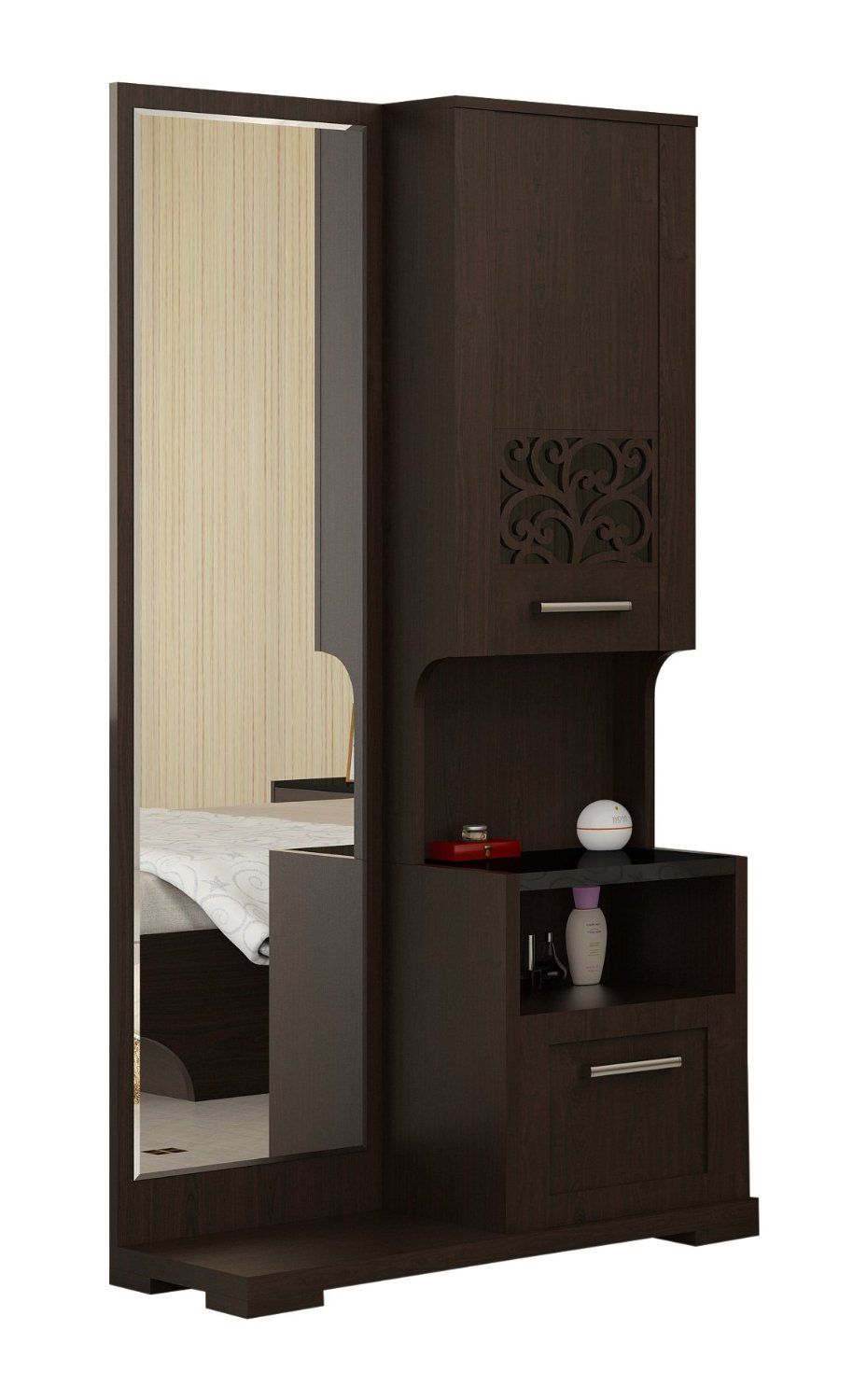 Amazon Meubles Chambre Spacewood Akina Dressing Table Brown Amazon In Home Kitchen