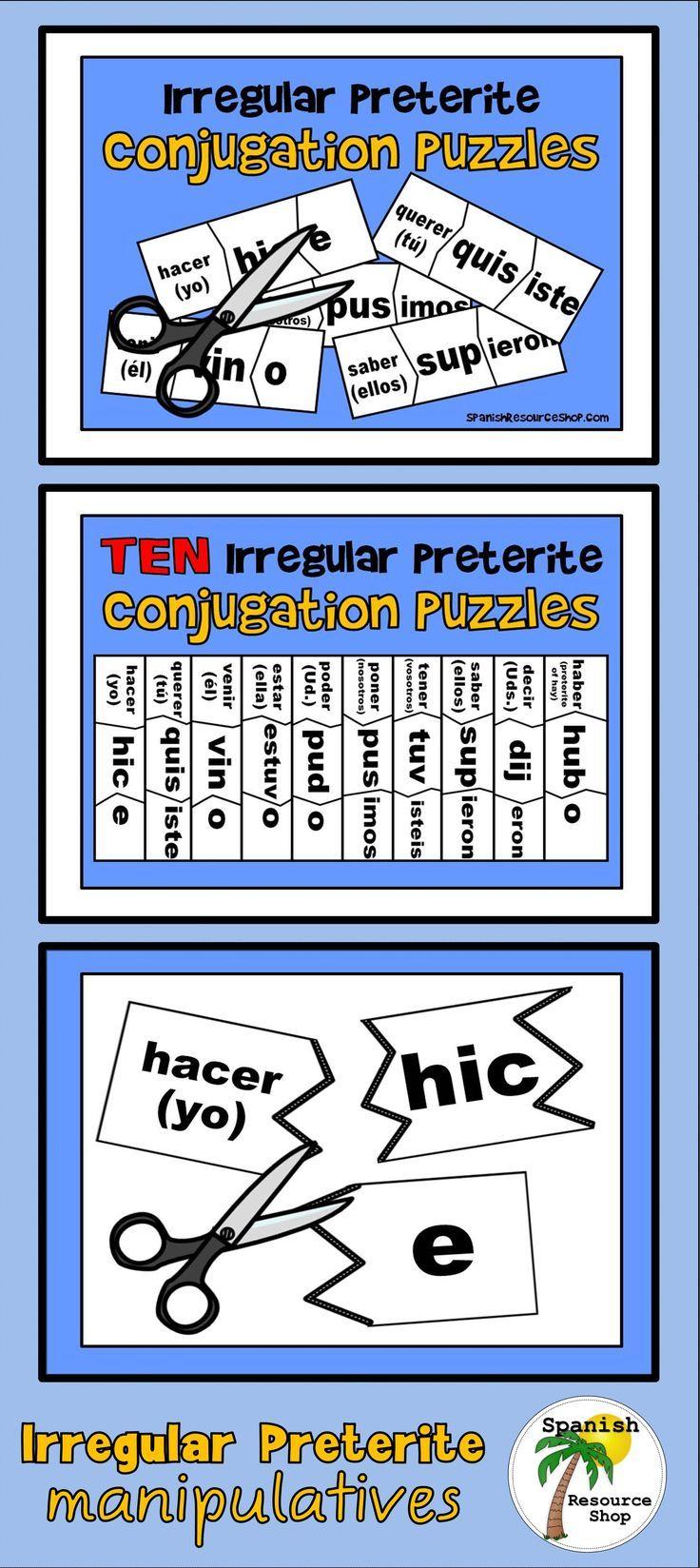 Fun Way To Practice The Spanish Irregular Preterite Verbs Irregular Preterite Preterite Spanish Classroom Activities [ 1648 x 736 Pixel ]