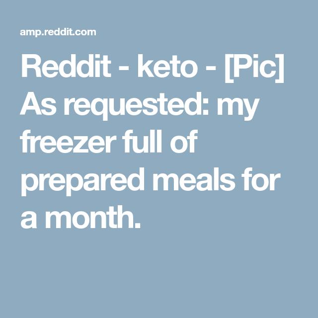 Reddit Keto Meal Plan