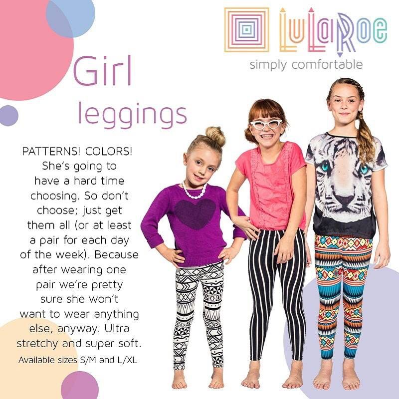 fe7e9b9666b LuLaRoe girls leggings  18 lots of prints and colors. Join the group to see  my inventory and shop! www.facebook.com groups LuLaRoe.Northshore