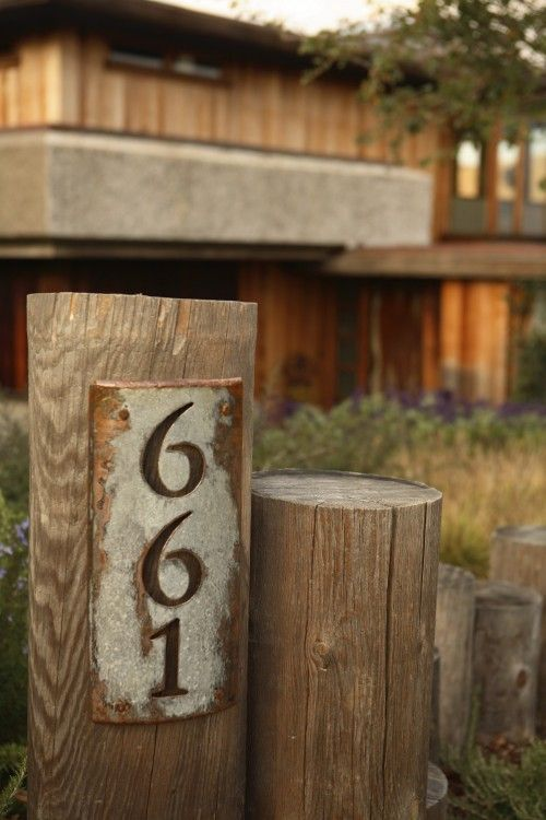 House Numbers Design Ideas Pictures Remodel And Decor Rustic