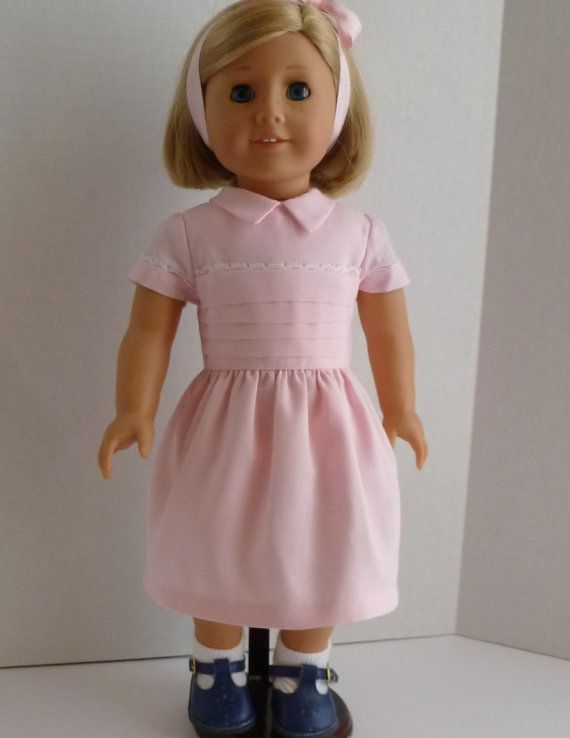 1940's pink party dress and sweater for your by nancysdollcloset