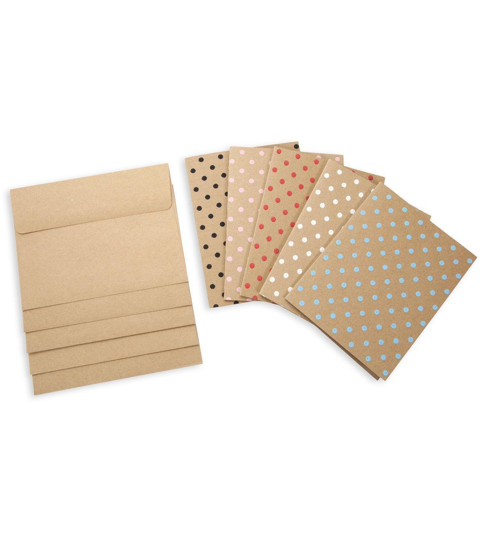 Core'dinations Card/Envelopes: A2 Kraft Polka Dot Assortment; 40 pack