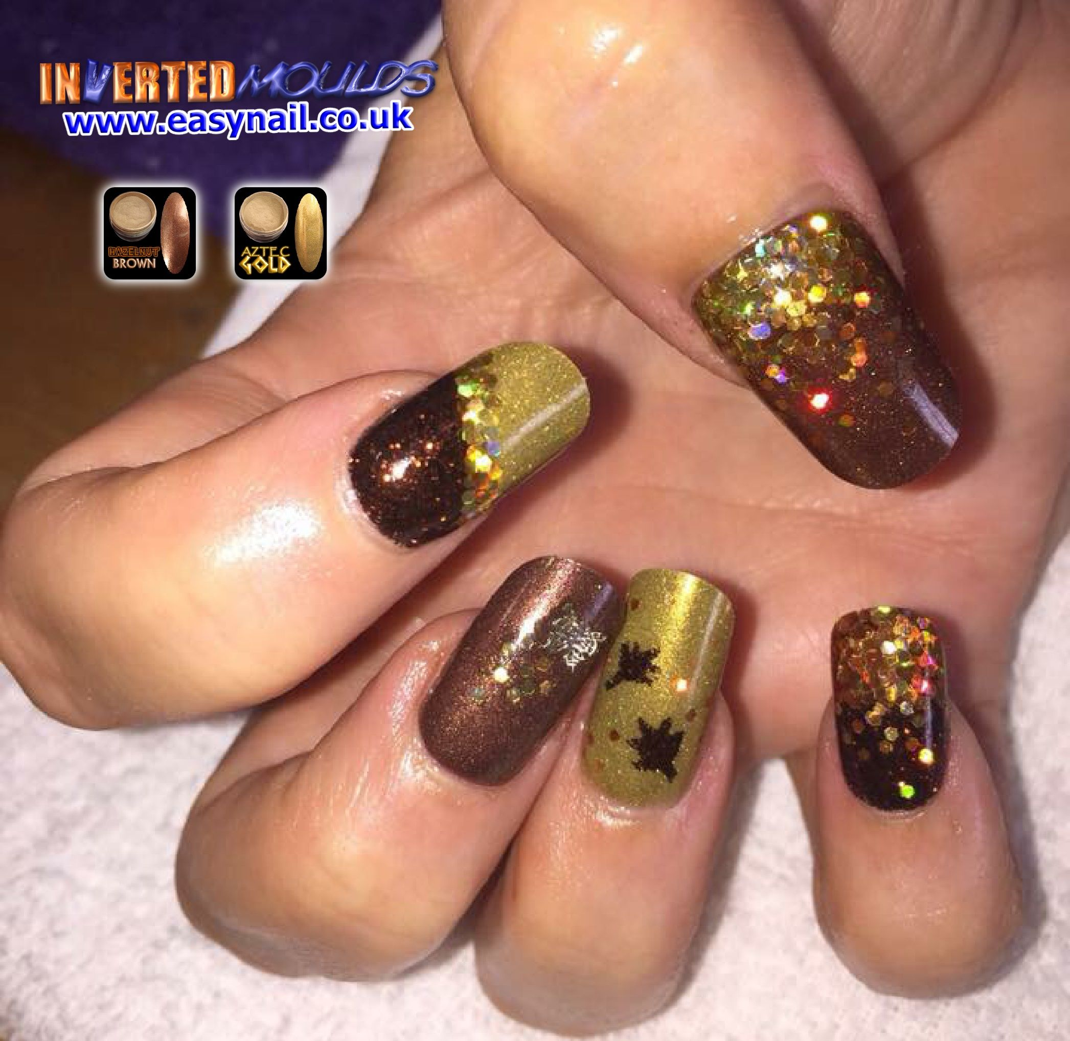 Nice \'Autumn\' colour combo, Hazelnut Brown and Aztec Gold. By Laura ...